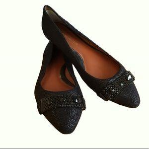 Rebecca Minkoff Black leather studded Flats 9-1/2